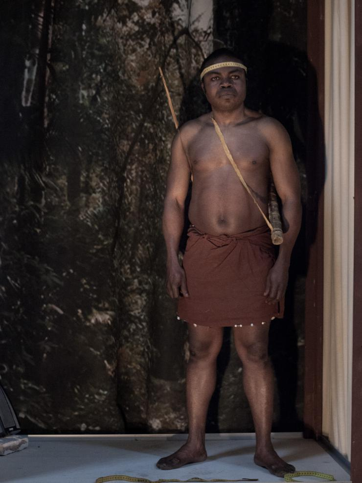 man standing in traditional South African garb