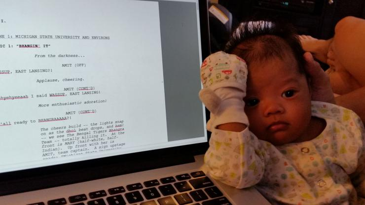 Baby and script