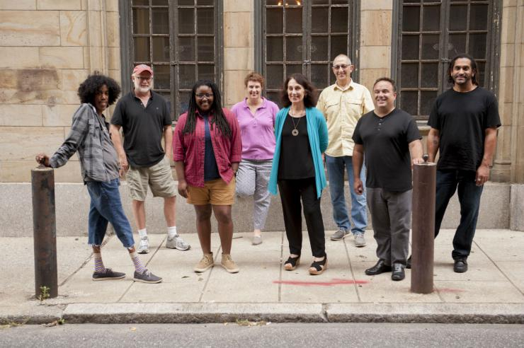 Playwrights on the sidewalk