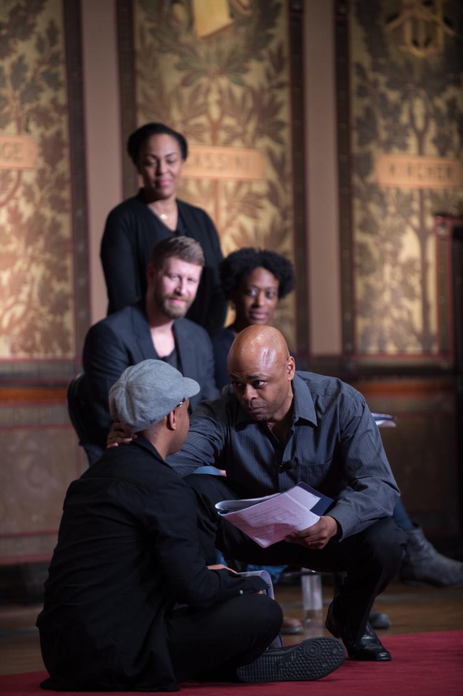 five actors on stage