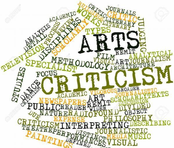 word cloud with the words arts and criticism