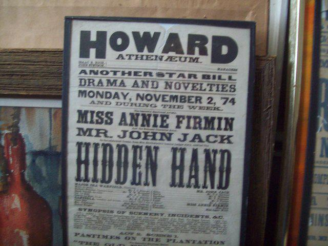 An old fashioned playbill