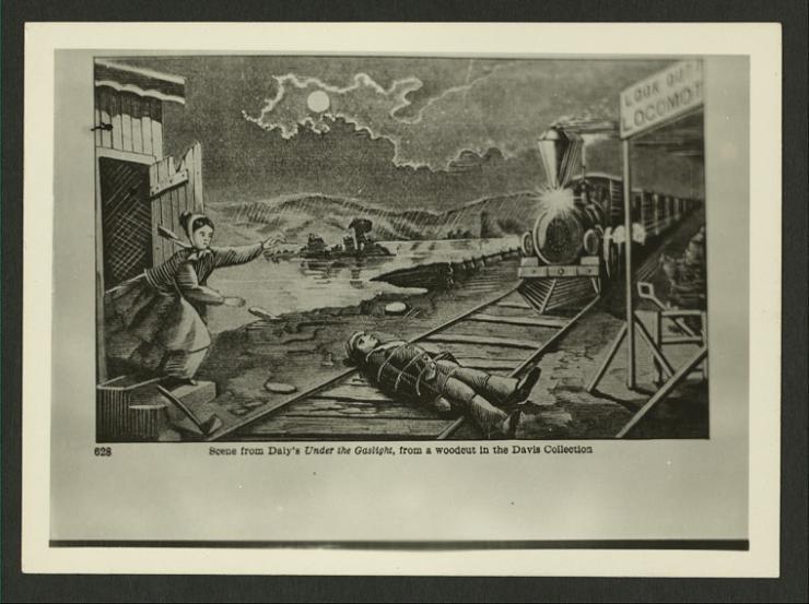 illustration of a railroad scene