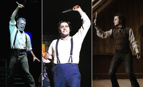 various actors playing Sweeney Todd
