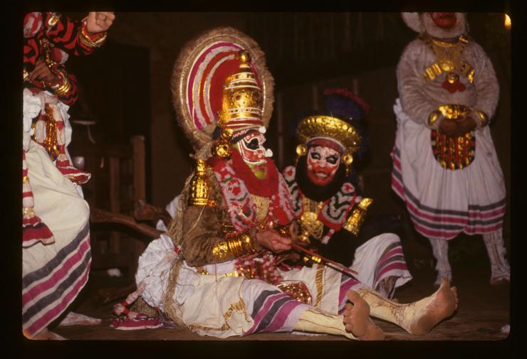 Kutiyattam performers in costume