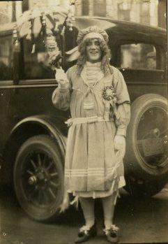 mummer in costume