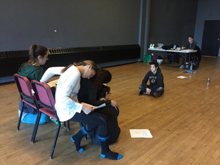 actors in rehearsal