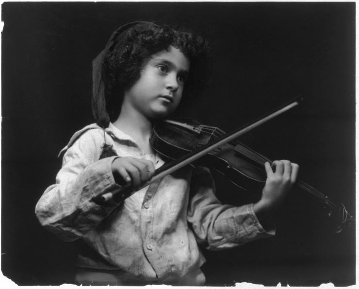 vintage photo of a child