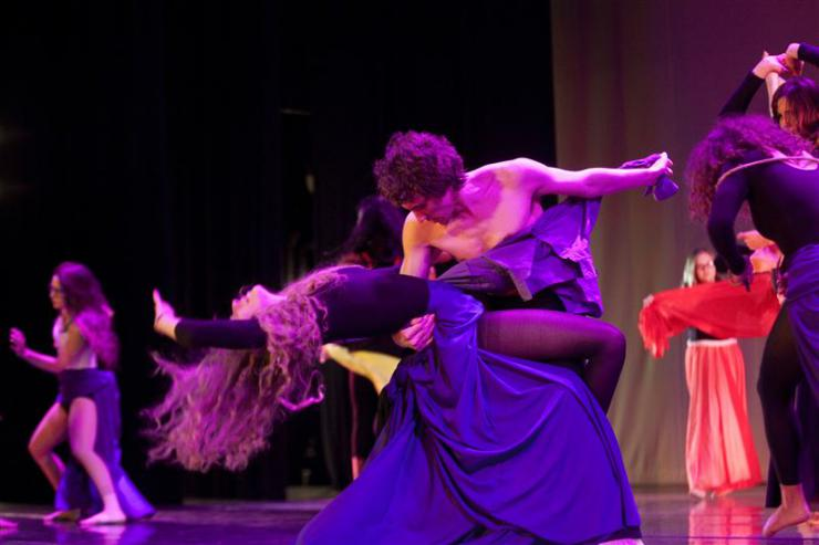 two dancers partnering