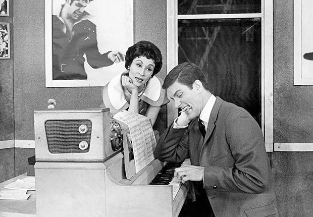 vintage photo of two actors