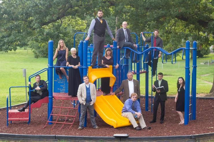 company photo on a playground