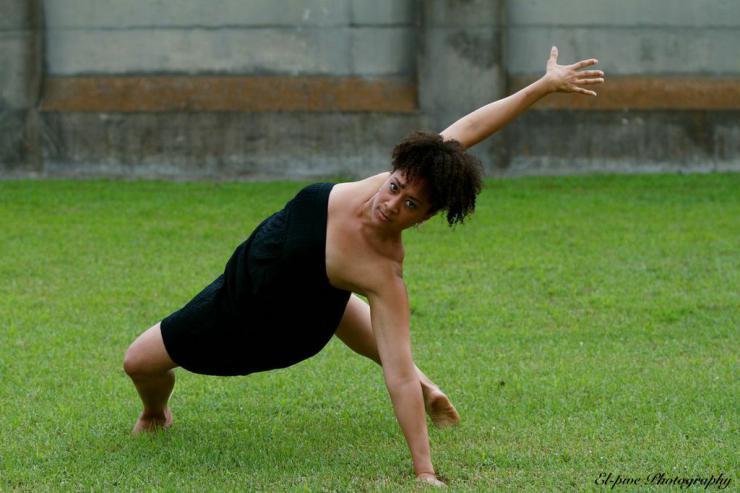 a dancer outdoors