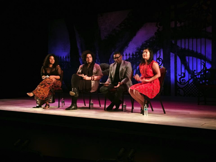 four people in a panel
