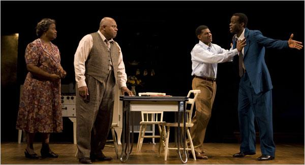 group of african american actors on stage