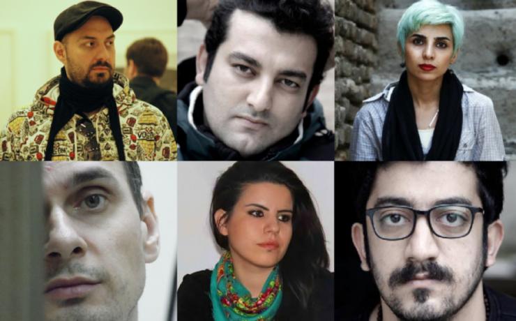 six headshots of artists