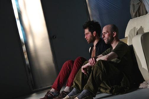 two actors sitting side by side