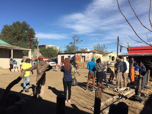 a community gathering