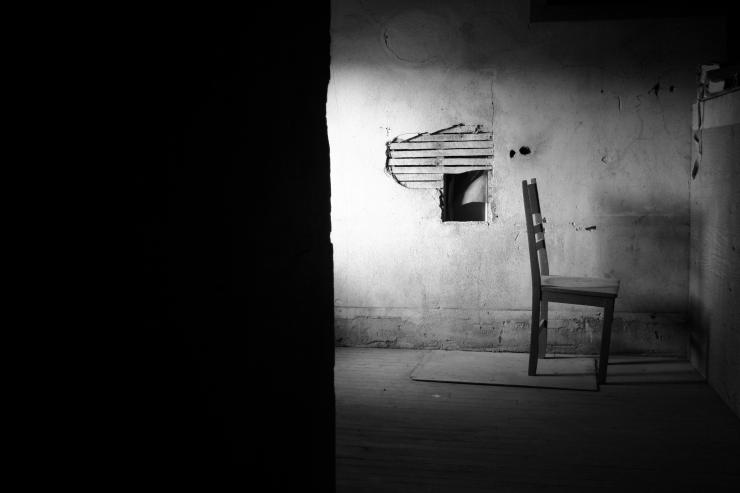 A chair on a set