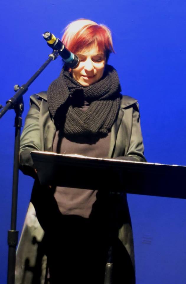 an actress behind a piano