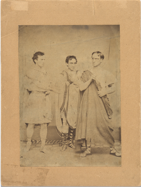 vintage photo of a group of actors