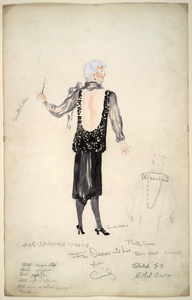 a costume sketch