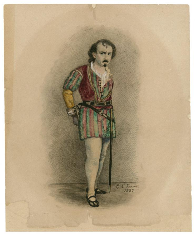 drawing of a shakesperean actor