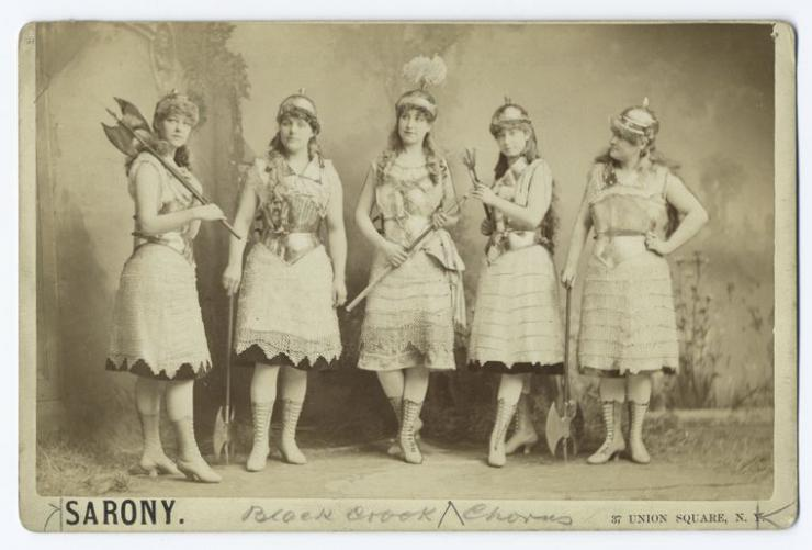 vintage photo of a group of actresses