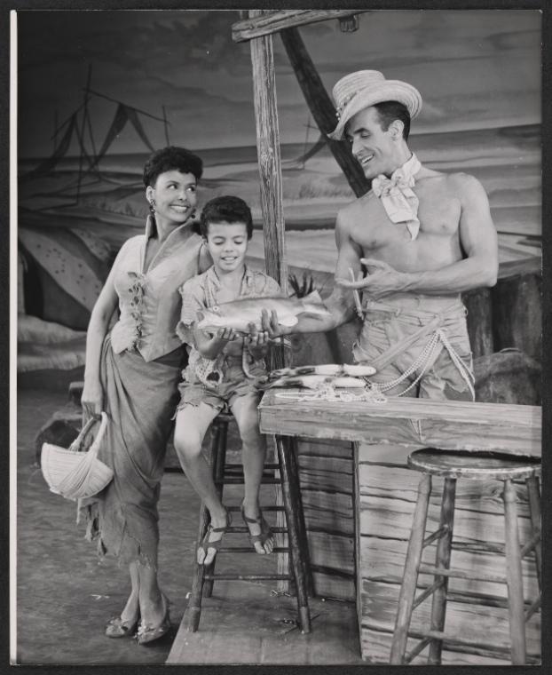 vintage photo of actors in film