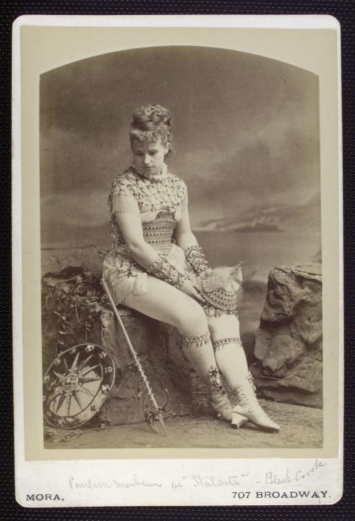 vintage photo of an actress in costume