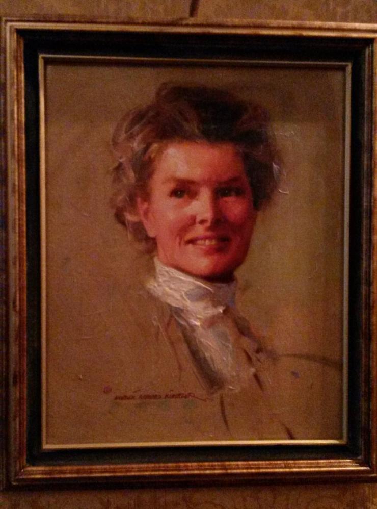 Painting of Katherine Hepburn