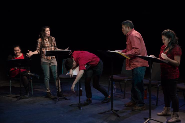 actors performing a staged reading