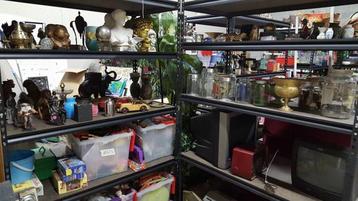 props on shelves