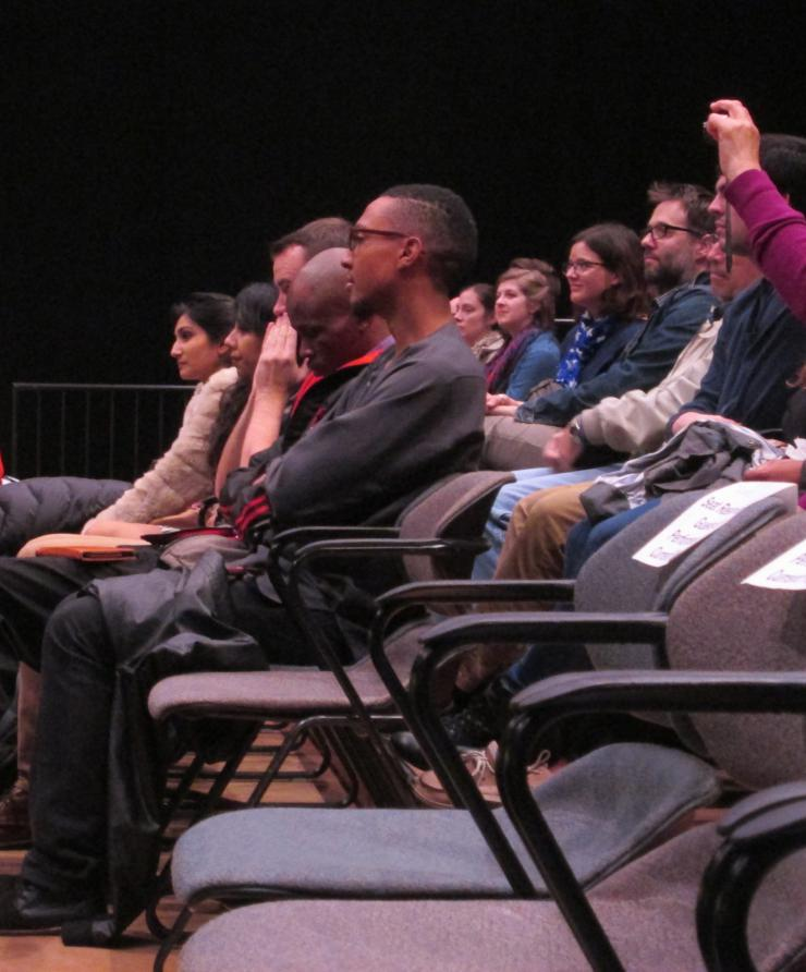 audience watching a performance