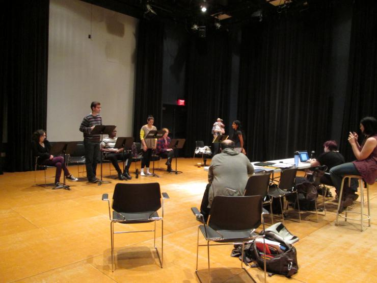 actors in rehearsal