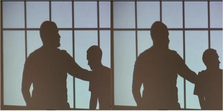 silhouettes in a jail cell
