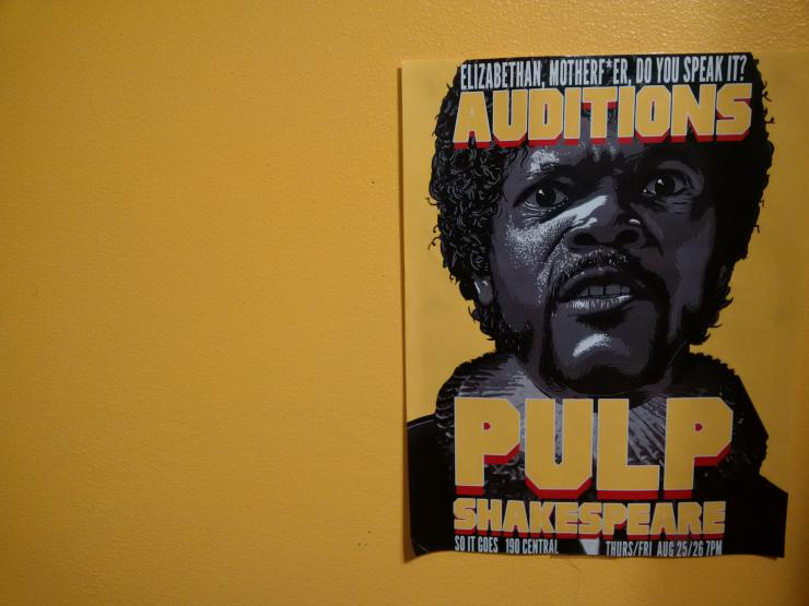 Pulp Shakespeare poster