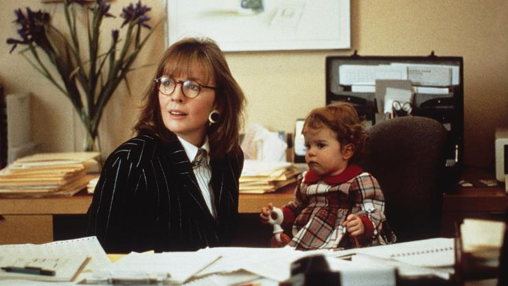 "Diane Keaton and baby, in ""Baby Boom"""