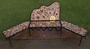Mural bench