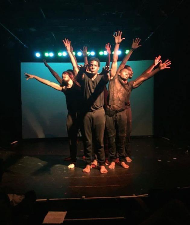 men performing