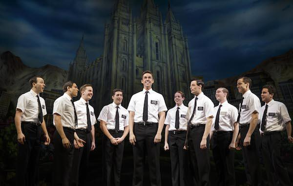 Cast of Book of Mormon on stage