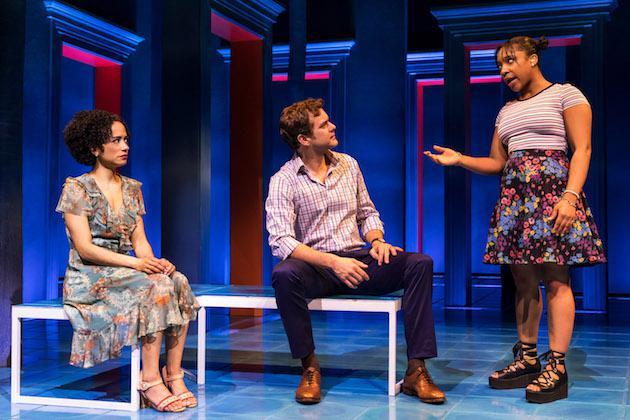 three performers onstage