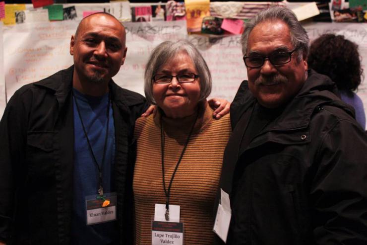Kinan Valdez, Lupe Valdez and Luis Valdez.