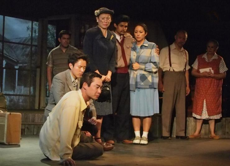 a group of actors on stage