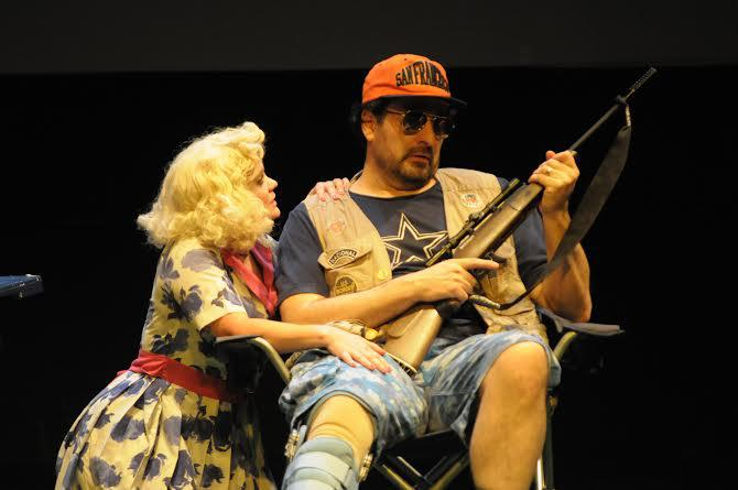 Two actors on stage