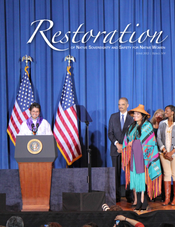 restoration of native sovreignty and safety for native women press photo