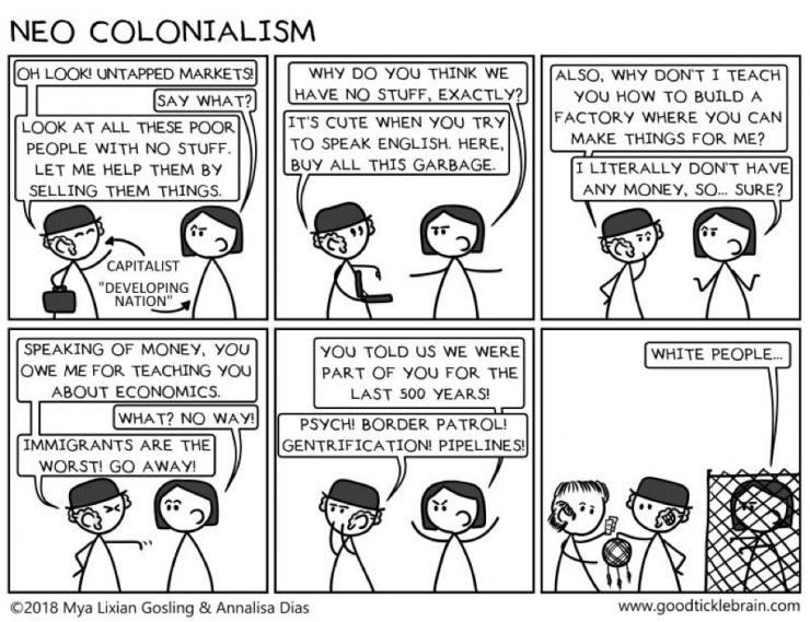cartoon explaining neo colonialism