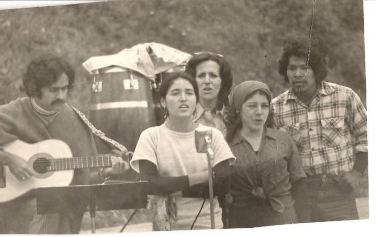 vintage photo of a Latinx performance