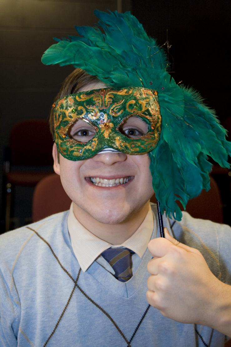 an actor in a mask