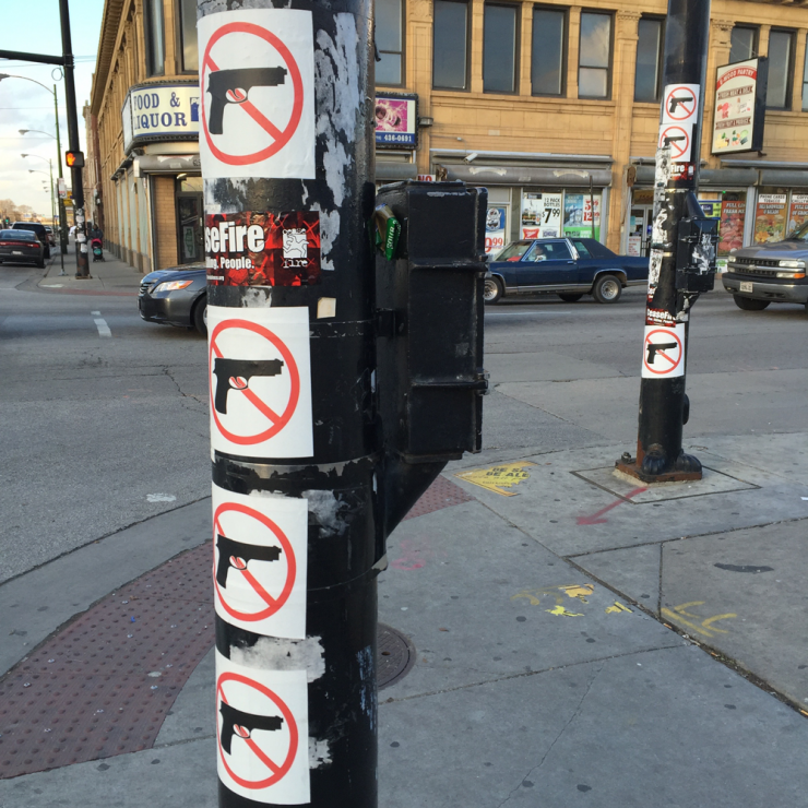 a pole at an intersection