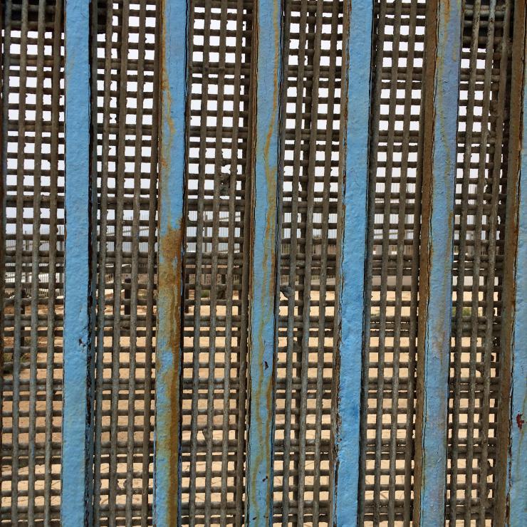 blue border fence